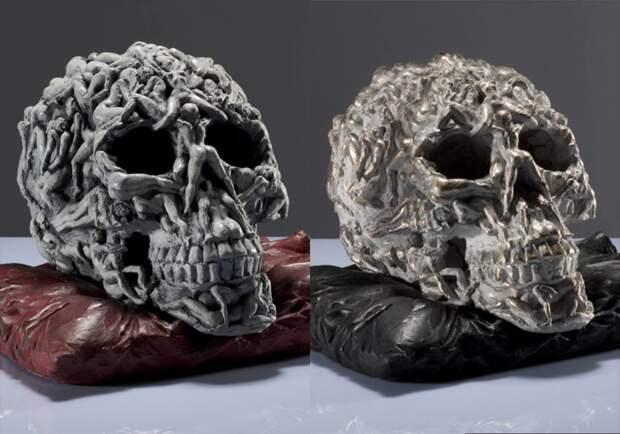 Самые пугающие арт-работы с черепами