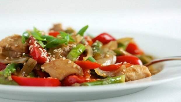 Мясо и овощи блюдо, еда, завтрак, здоровье, полезное