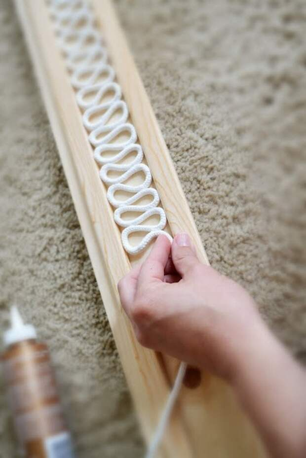 деревянная планка для формирования веревки для люстры