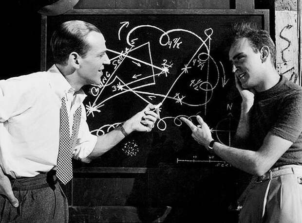Фред Астер, и его помощник по хореографии Хермс Пан,1936г.