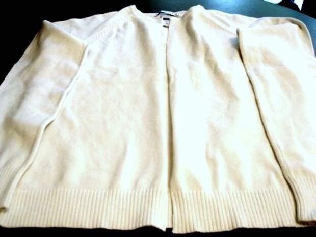 Переделка свитера в кардиган (Diy)