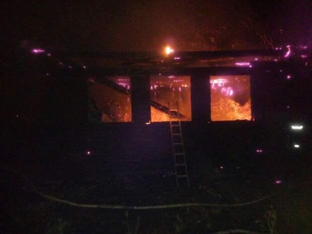 Житель Удмуртии погиб при пожаре в частном доме