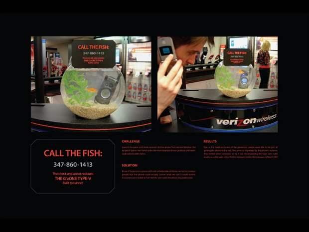 Теперь мобильным могут пользоваться даже рыбы