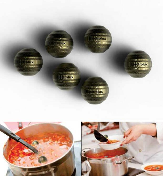 Металлические шарики, с помощью которых можно разогреть любое жидкое блюдо.
