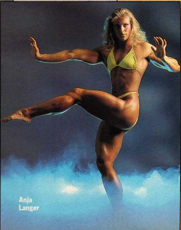 "Аня Ланжер. Вице-""Мисс Олимпия"". 1988 год."