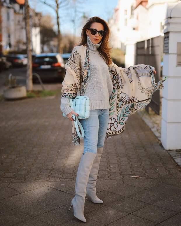 14 вариантов как стильно носить свитер весной уверенным в себе женщинам