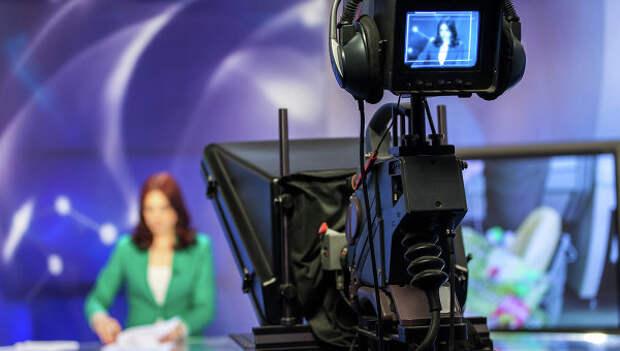 Телевизионная студия. Архивное фото
