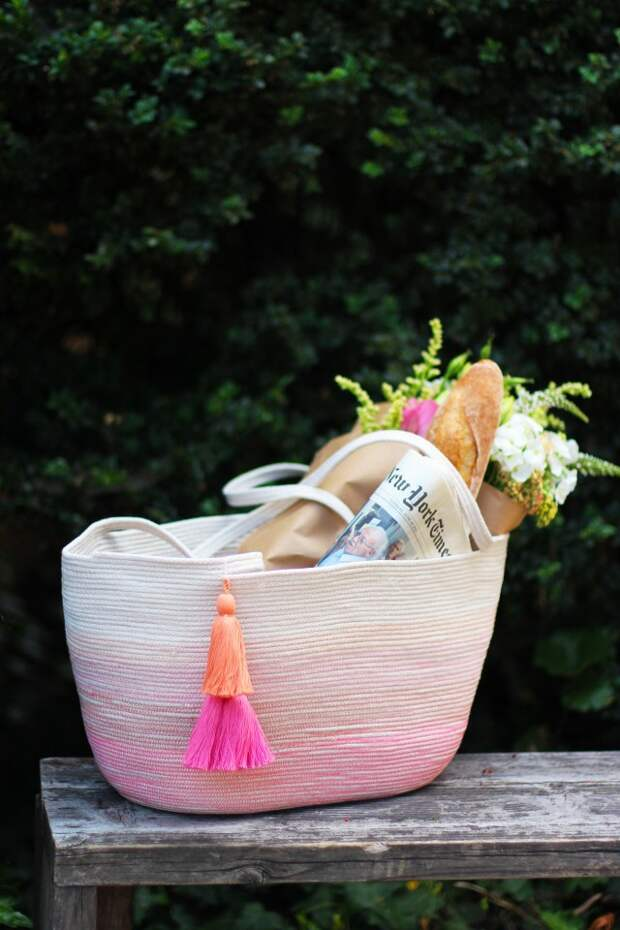 Веревочная сумка-корзина своими руками (Diy)