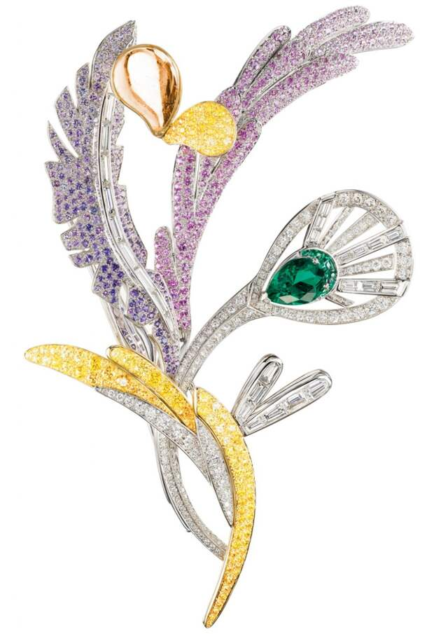 Boucheron Mosaique Delilah diamond and colored s