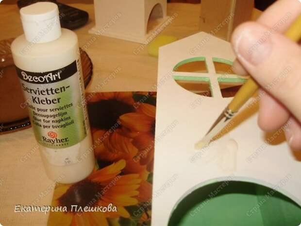 Декор предметов Мастер-класс 8 марта День рождения Декупаж МК Чайного домика Бумага Дерево Крупа фото 12