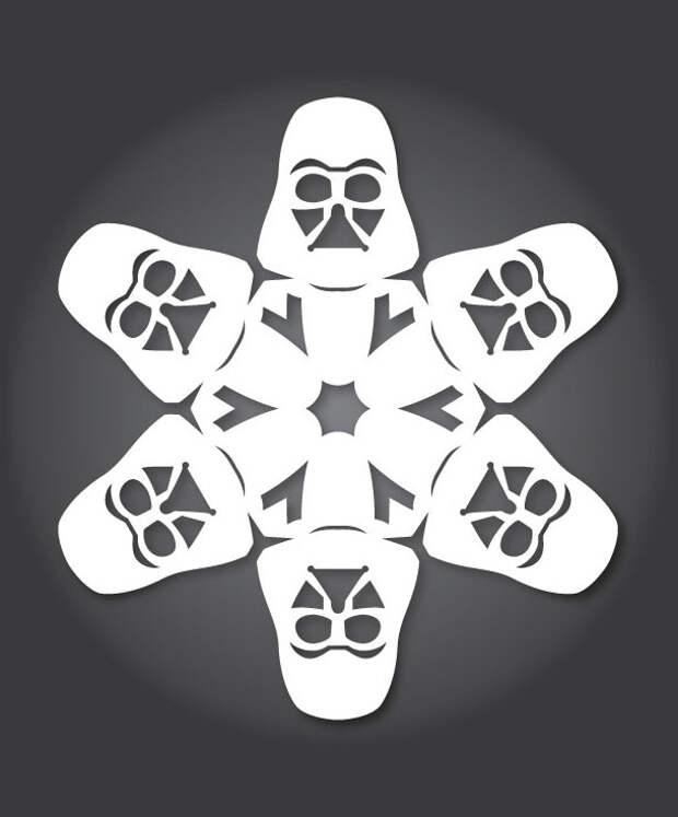 Дизайнерские снежинки с Дартом Вейдером на счет раз-два-три!