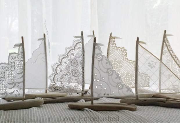 Белые кораблики...