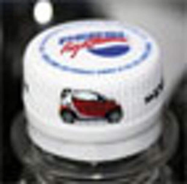 Крышечка от Pepsi в рекламе автомобиля