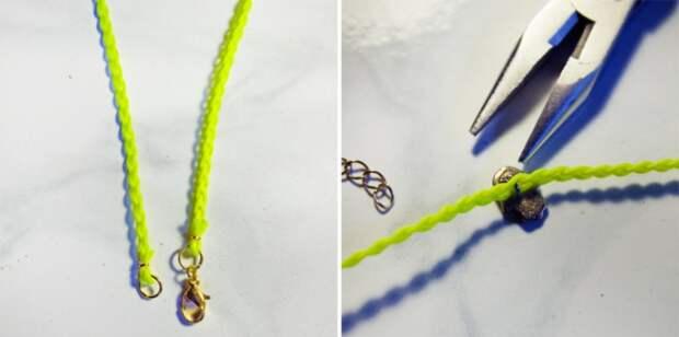 Браслеты из сережек  гвоздиков (Diy)