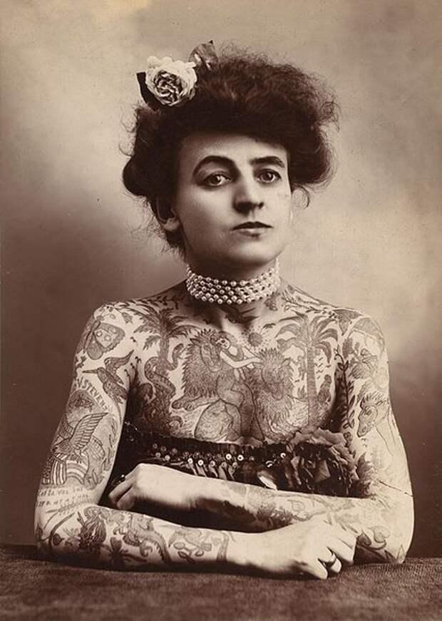 Мод Вагнер – первая художница тату, 1911  интересно, история, фото