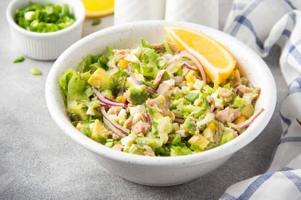 Салат из тунца с картофелем