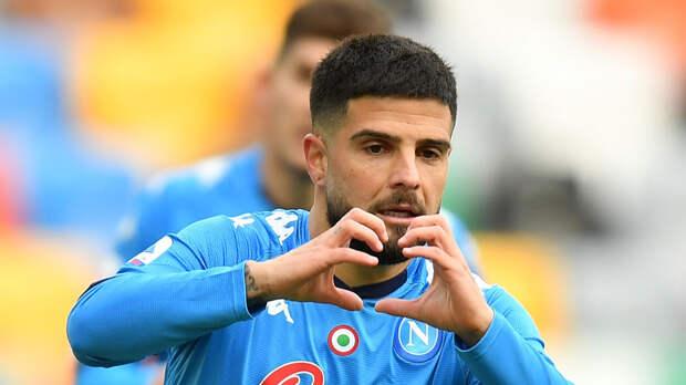 Дубль Инсинье помог «Наполи» разгромить «Лацио» в Серии А