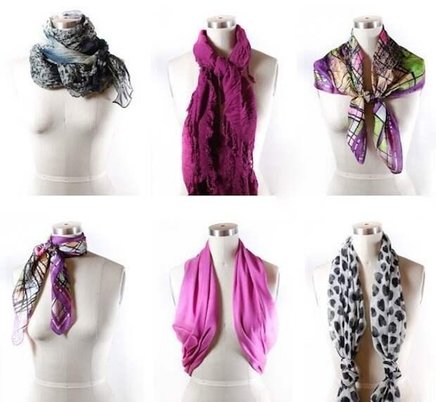 42 способа завязать шарф