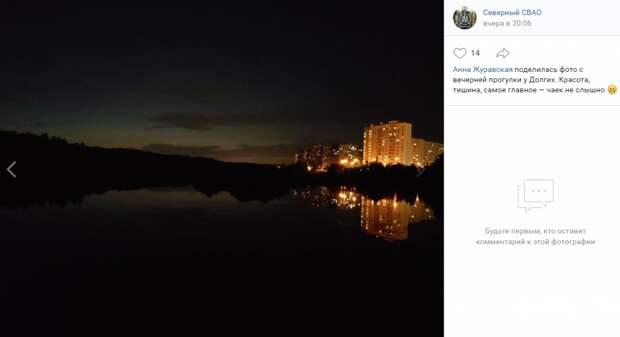 Фото дня: темный вечер в парке Долгие пруды