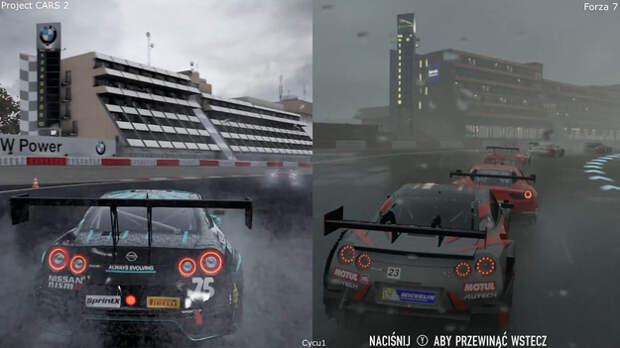Графику Forza Motorsport 7 и Project CARS 2 сравнили на видео