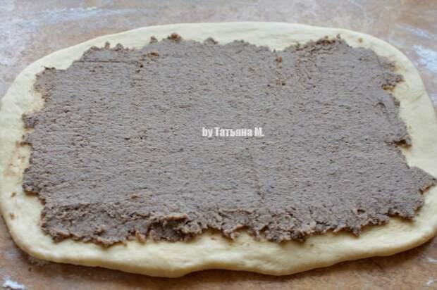 Сытный разборный пирог с начинкой