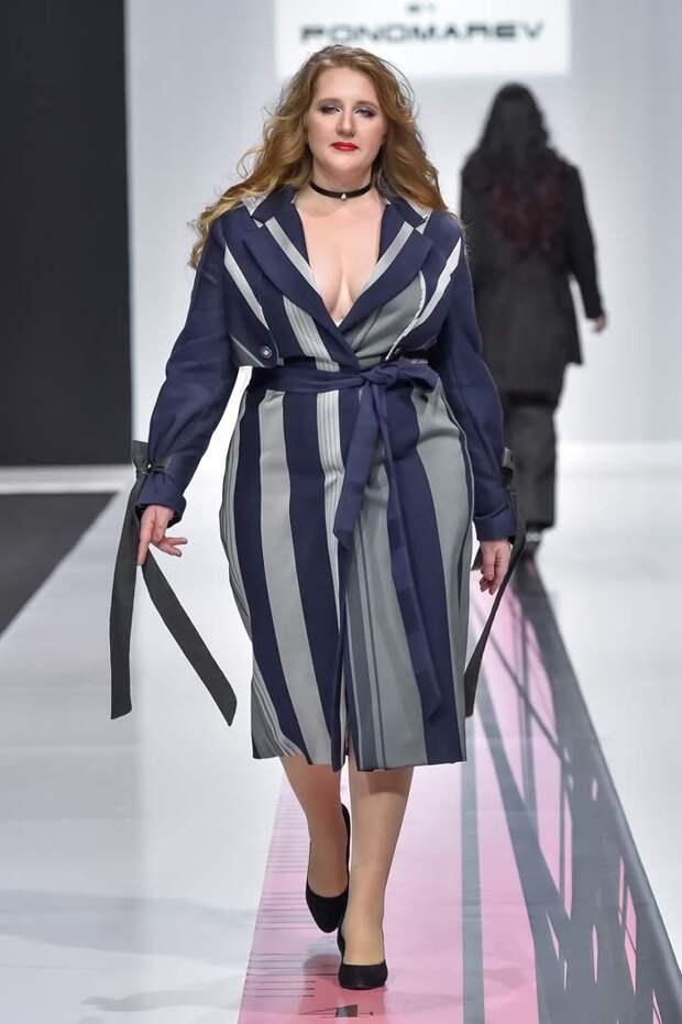 Мода для полных девушек и женщин — осень-зима-весна 2018-2019 года.