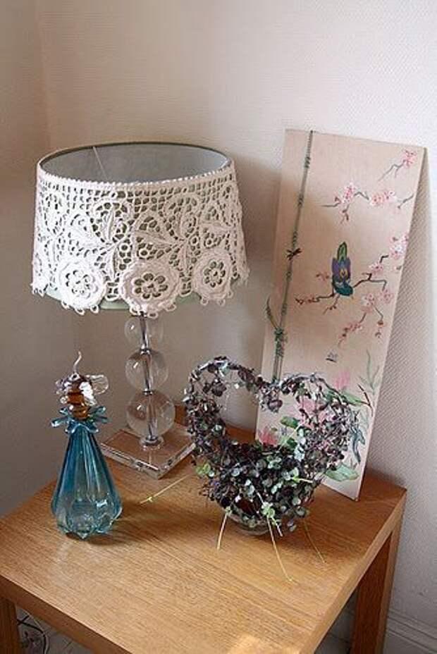 Идеи для вдохновения: декор абажура текстилем и кружевом