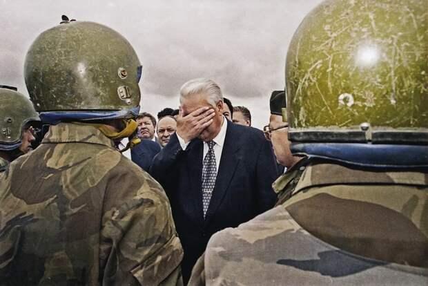 31 марта 1996 - Ельцин подписал указ о прекращении войны Чечне