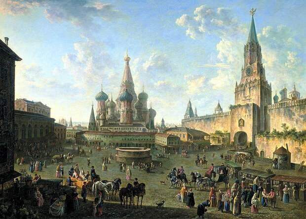 Файл: Красная площадь в Москве (1801) Федора Alekseev.jpg