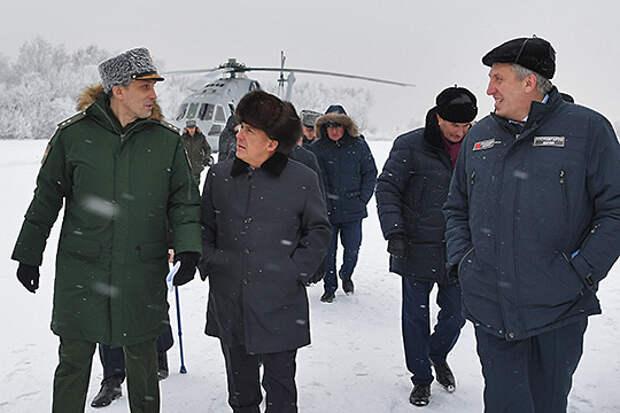 Минпромторг РТ после визита Алексея Криворучко (слева) сообщил, что проект первого в России полноценного боевого беспилотника у Казани не заберут