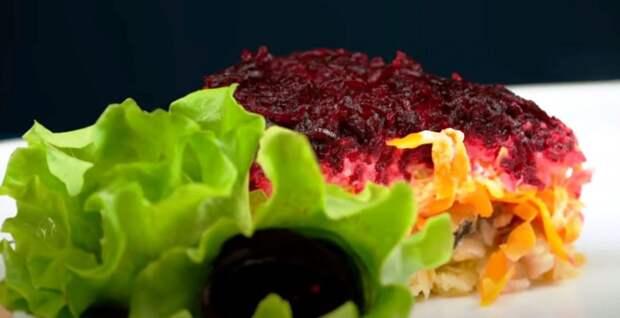 Селедка под шубой «по новому» на Новый год! Потрясающая идея оформления салата