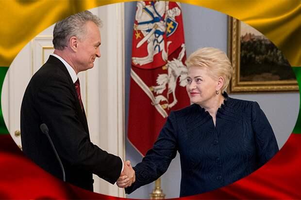 Г. Науседа и Д. Грибаускайте, настоящий и бывший президенты Литвы