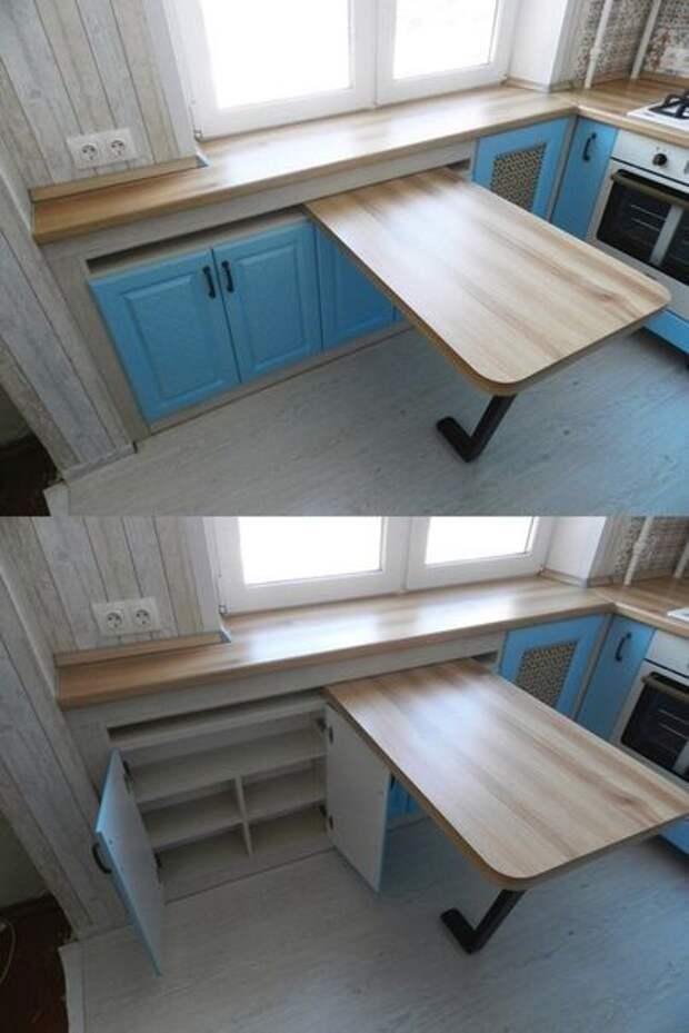 Подоконная кухонная мебель