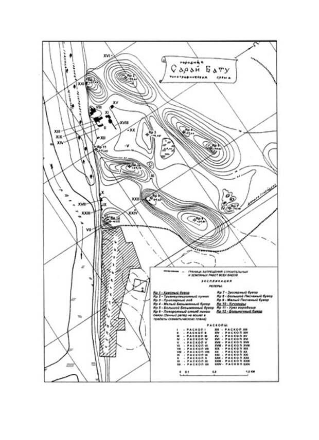 План центральной части Селитренного городища