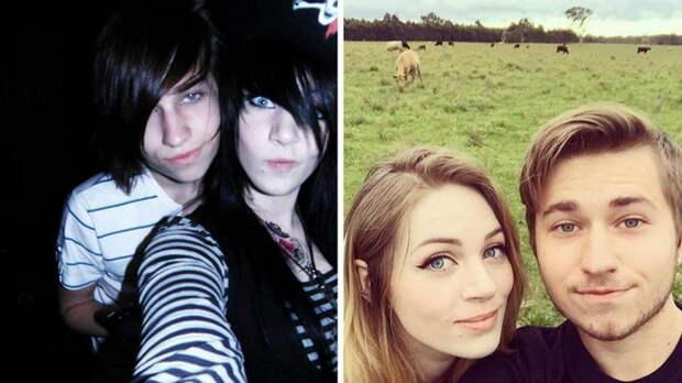 До и после: Семь правдивых фотографий о том, как взрослеют Эмо