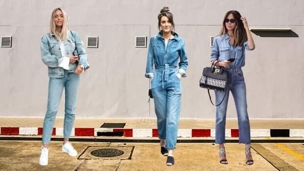 Как составить безупречный образ используя модный тренд – Total Denim