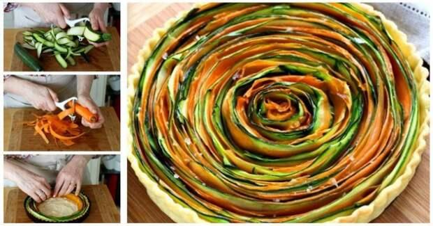 Закусочные тортики с овощами и фруктами (подборка)