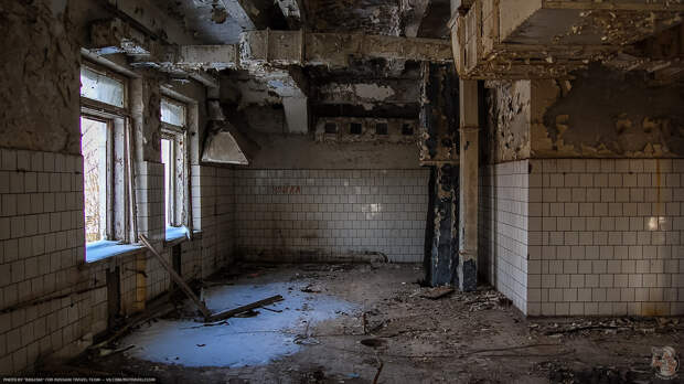 Завод Центролит в Кашире — заброшенное здание столовой