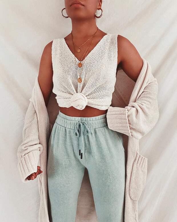 17 модных вариантов с чем носить трикотажные вещи летом