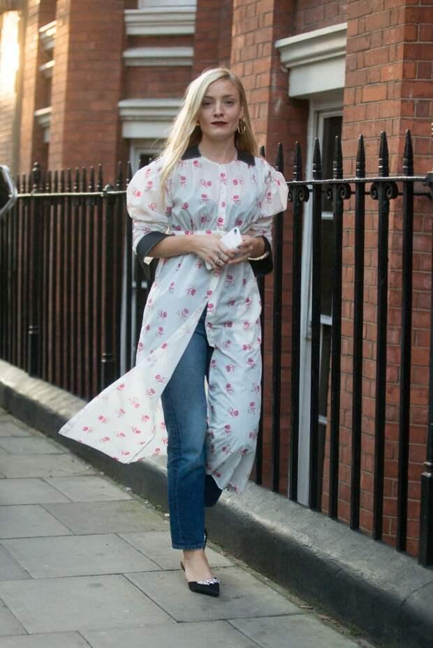 платье рубашка с джинсами