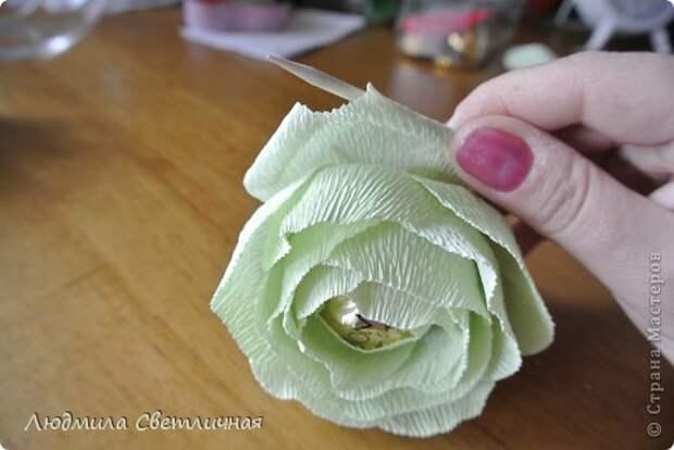 Мастер-класс Свит-дизайн Моделирование конструирование Роза для Колибри Бумага гофрированная фото 10