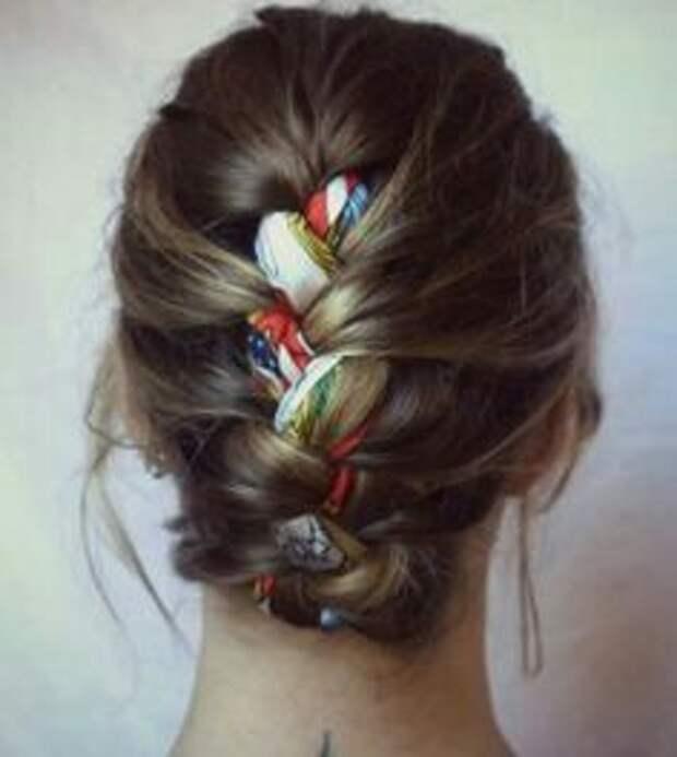 Коса с платком (Diy)