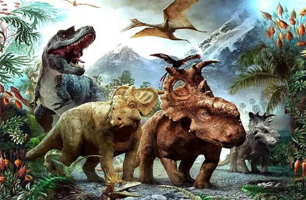 Динозавры разных видов