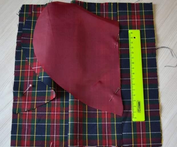 Обработка внутреннего бокового кармана платья, шаг 4