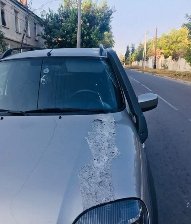 Как в Севастополе изуродовали иномарку (ФОТО)