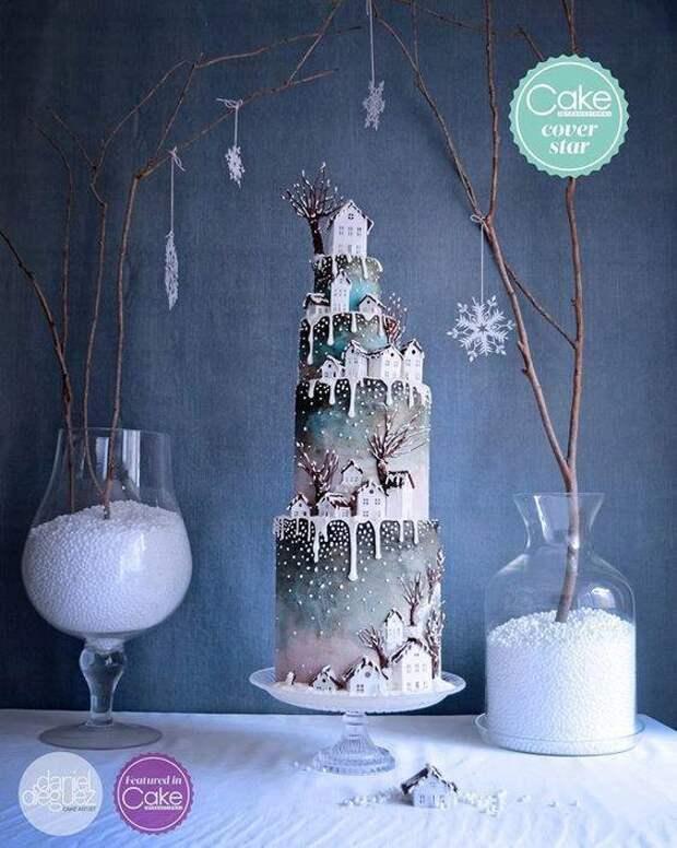 Необычайно красивые Новогодние тортики! Браво создателям такой красоты!