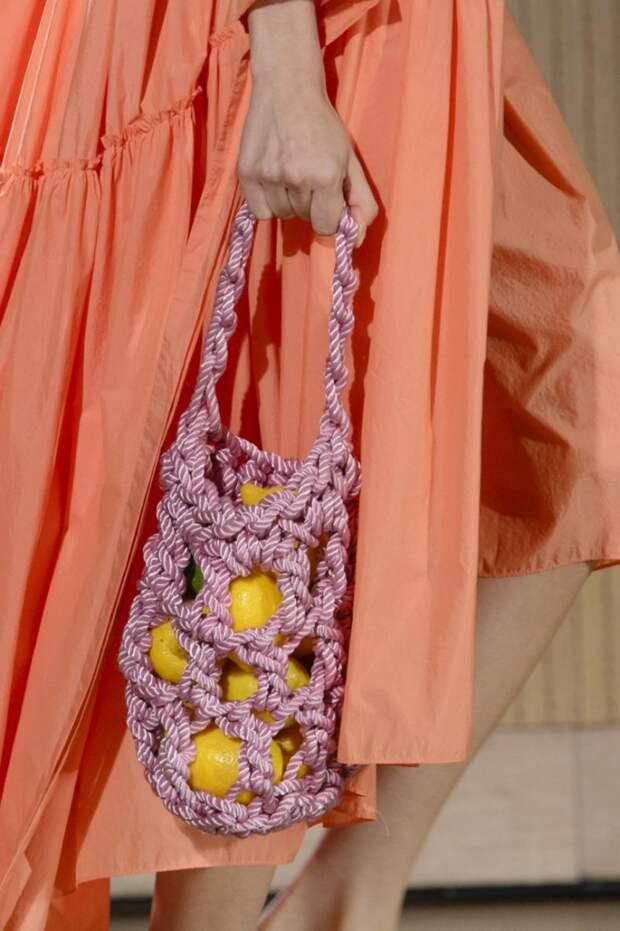 модные макраме сумки авоськи
