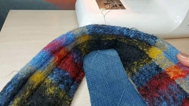 Не выбрасывайте старый мохеровый шарф и ноги больше мерзнуть не будут