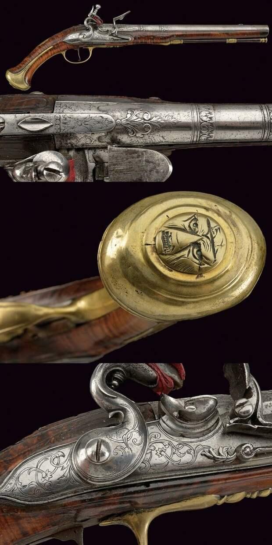Элегантный кремневый пистолет, Северная Италия, 18-й век. искусство, огнестрел, оружие, старинное