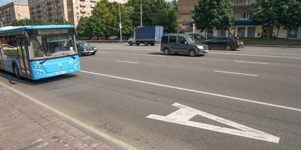 В 1-ом Новотихвинском переулке починили дорожный знак
